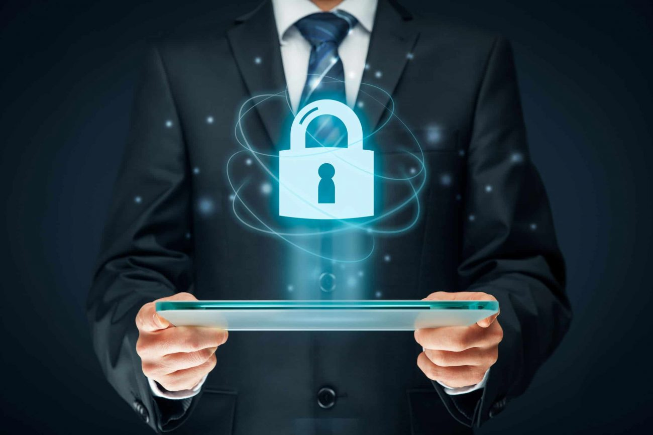 Cybersecurity and information technology security services concept. Login or sign in internet concepts.